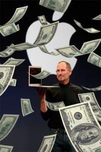 Steve Jobs has helped Apple earn record profits.