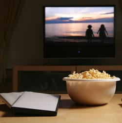 Save money by watching movies at home.