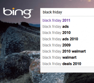 Bing Black Friday 2011