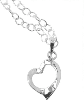 Barse Sterling Silver Heart Pendant