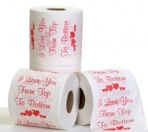 Funny Anti-Valentine Gift: Valentine's Day Toilet Paper