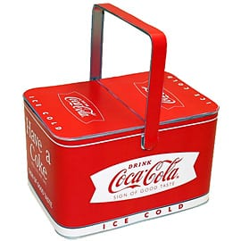 Coca-Cola Basket Tin
