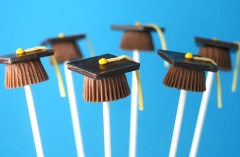 Graduation cap pops