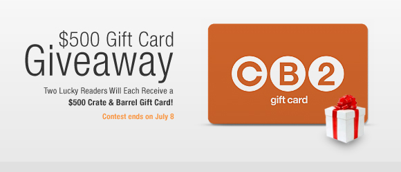 Crate & Barrel Gift Card Contest