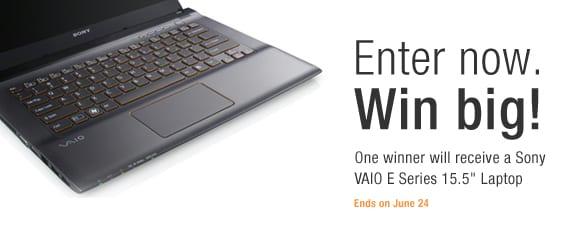 Free Sony Vaio Laptop!