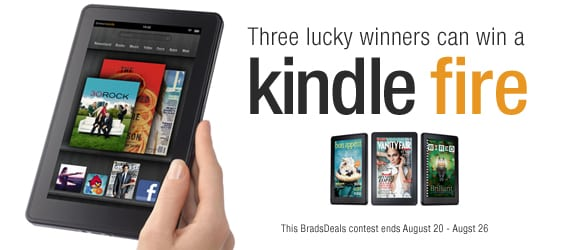 Enter to Win A Kindle Fire from BradsDeals.com