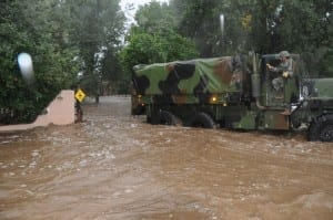 Colorado Flood Relief National Guard Truck