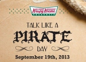 krispy kreme talk like a pirate day