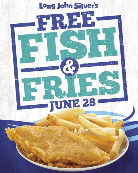 Long John Silver's Free Fish and Chips