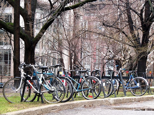 Take a bike to school instead of a car to save money. (Flickr / James Schwartz)