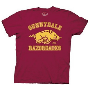 red tshirt sunnydale razorback, Friday night frugal at Brads Deals