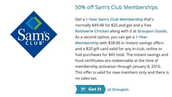 50 off Sam s Club Memberships