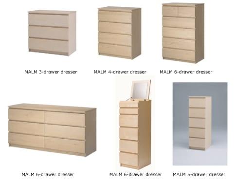 recalled dressers