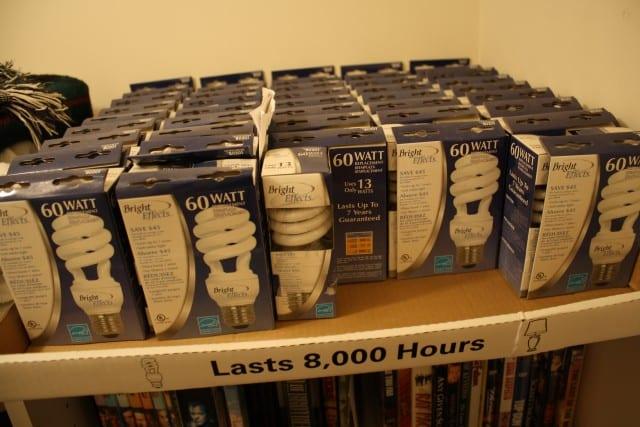 60-watt energy-efficient lightbulbs from Lowes.com