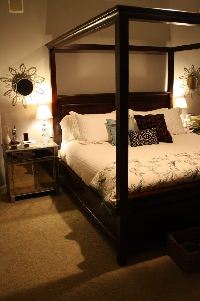 Mattress, sheets, pillows, bed frame