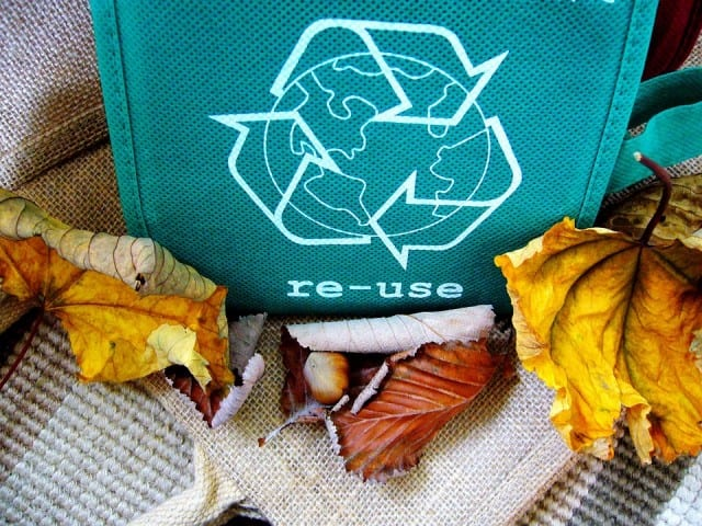 reuse recycle bag, spring cleaning tips
