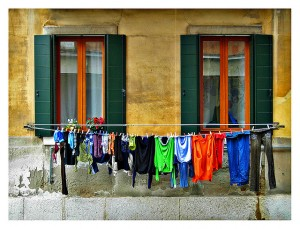 Air Drying on a Clothes Line