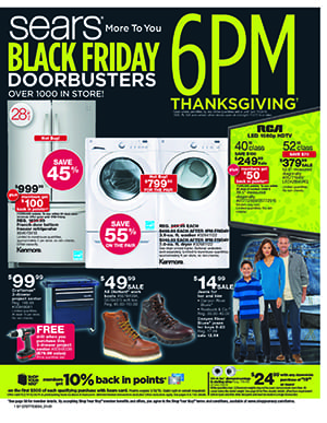 Sears Black Friday Ad 2014