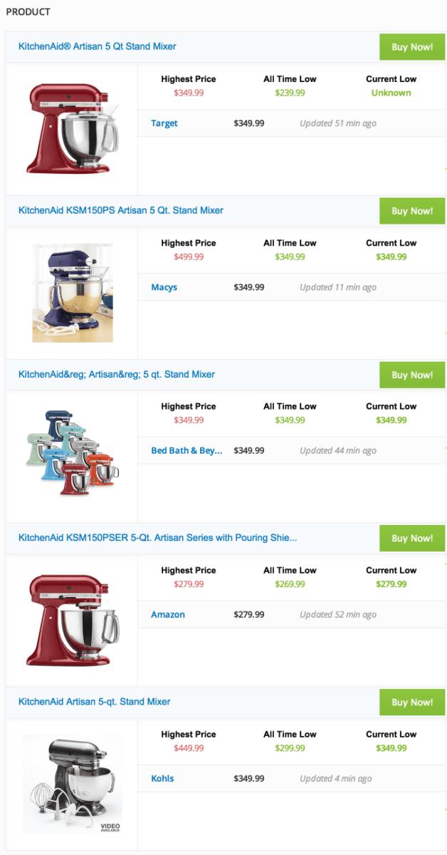 multiple KitchenAid stand mixers,  Brads Deals