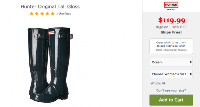 Zappos Hunter boots