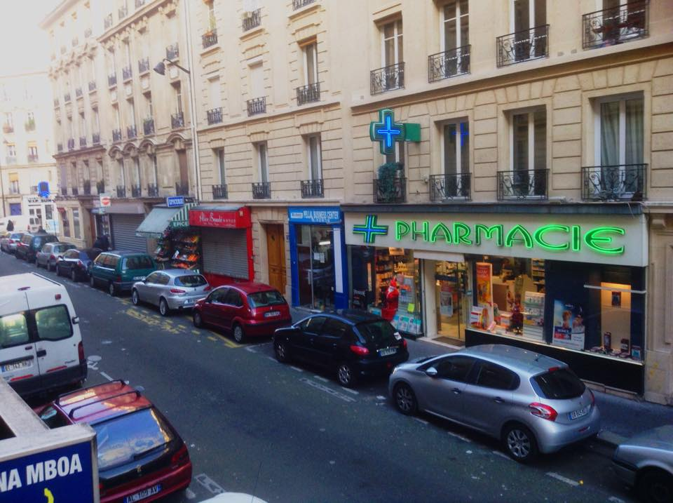 The view from our window in Paris.