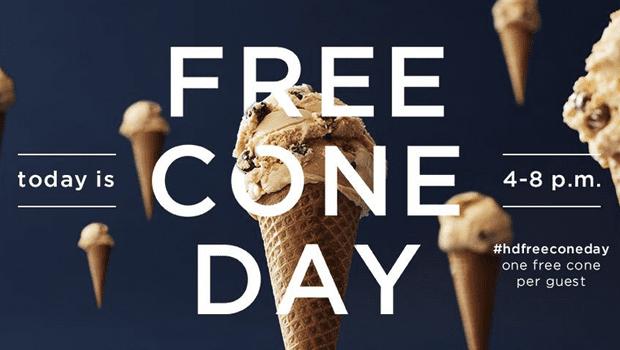 It's Free Cone Day at Häagen-Dazs!