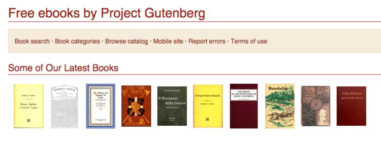 gutenburg project