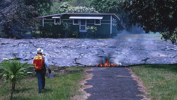 Insurance covers lava