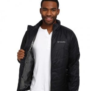 Man wearing a Columbia Mighty Light Jacket
