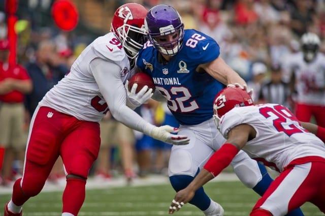 NFL runner being tackled