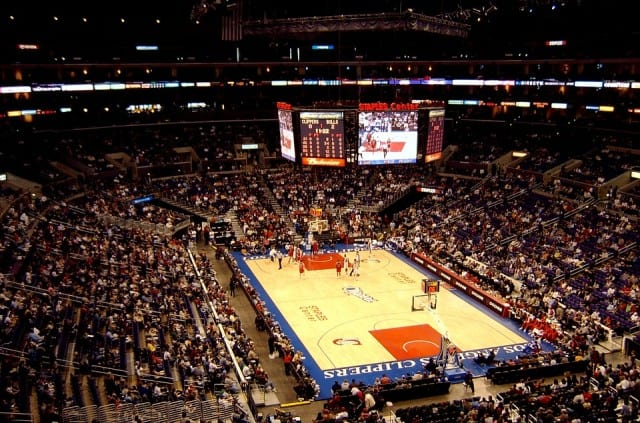 full NBA stadium