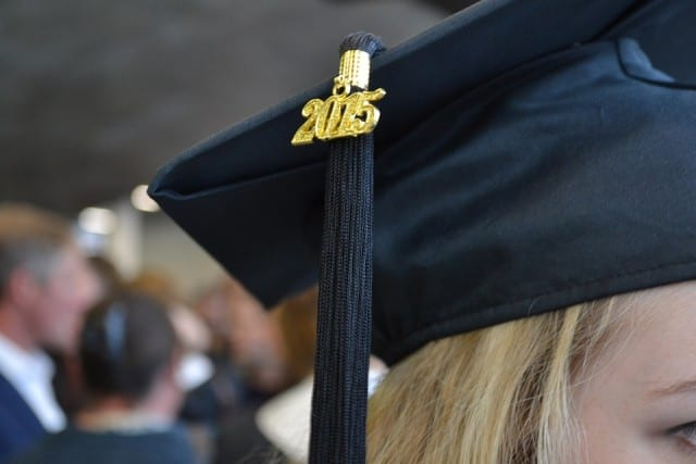 Women wearing graduation cap