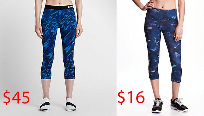 c0afd8709f501 Printed compression tights: Swap Nike for Old Navy. workout pants