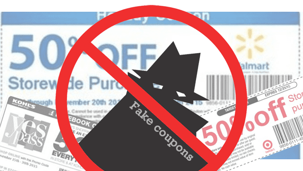 fake coupons