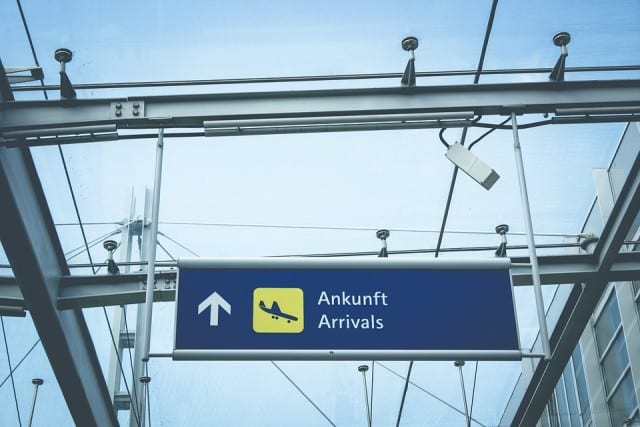 Sign for airport terminal