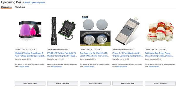 Amazon Upcoming Deals
