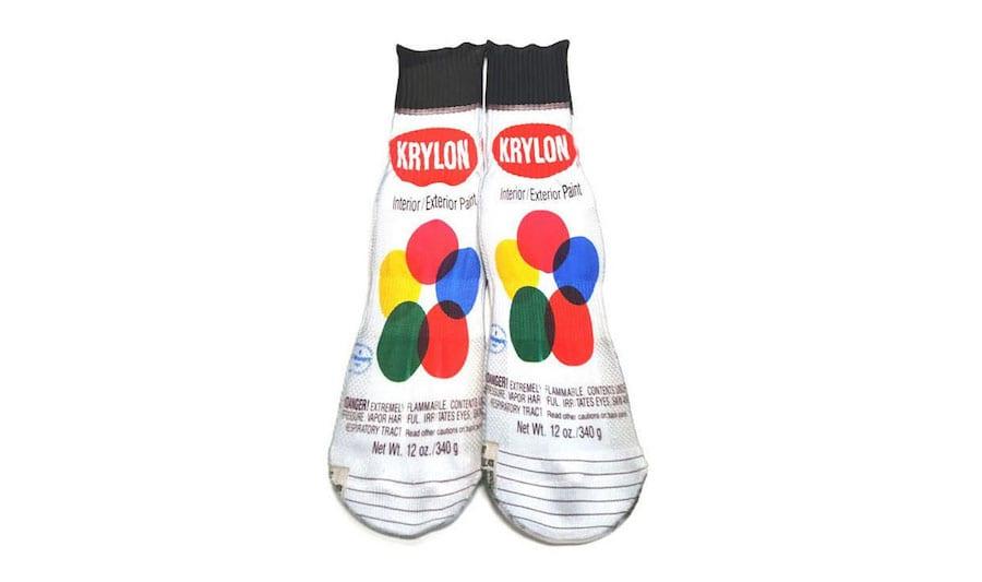 spray paint socks