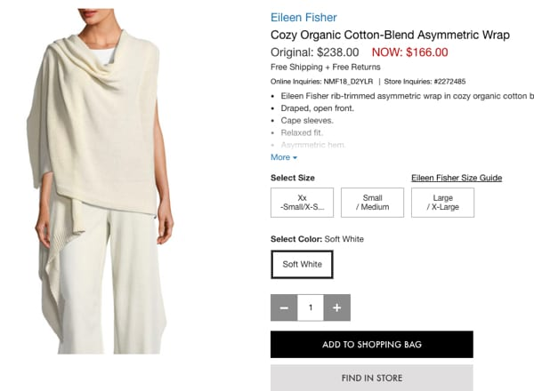 Eileen Fisher Wrap