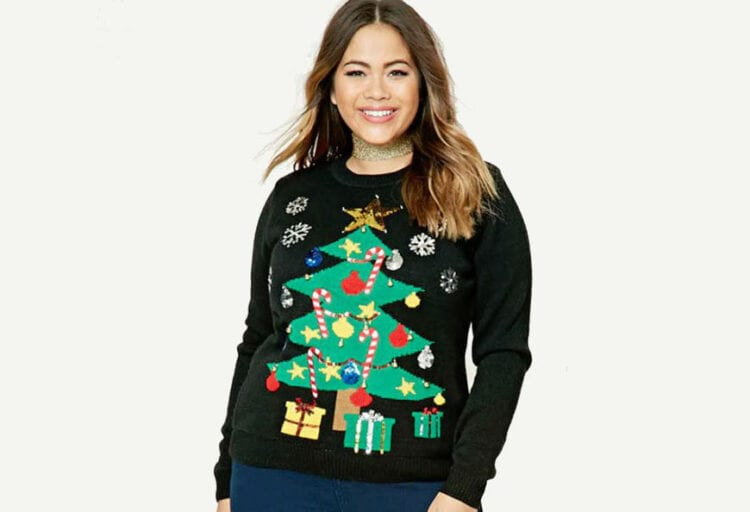 "78379ef2 While most of Forever 21's ""ugly sweaters"" are the kind to be placed in  quotation marks — i.e., secretly really cute — this one is unsightly enough  to have ..."
