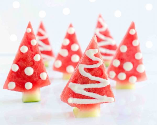 watermelon christmas trees