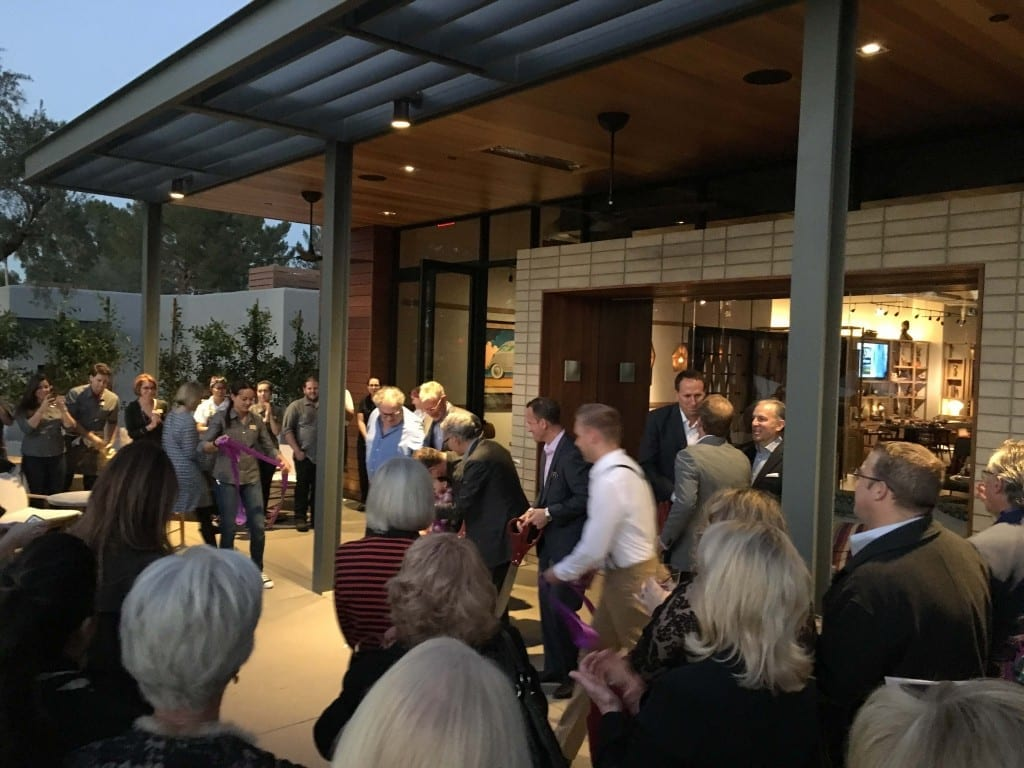 The end of the ribbon cutting ceremony at the Andaz Scottsdale