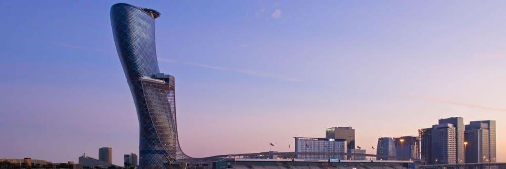 Hyatt Capital Gate Abu Dhabi skyline
