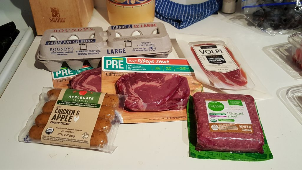 This is what $60 if grass-fed, hormone-free, sulfite-free, and sugar-free meat looks like.