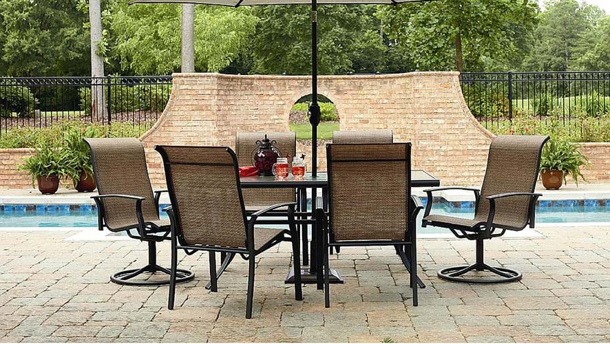 Elegant Garden Oasis Harrison Seven Piece Dining Set at Sears with code SEARS at checkout