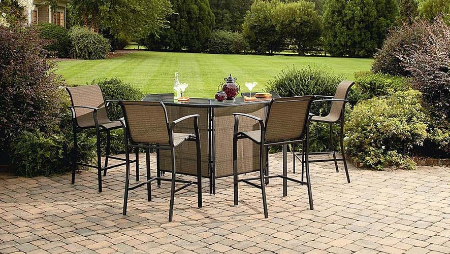 Good Wicker Three Piece Patio Swivel Chairs and Side Table Set at Hayneedle with code CONVO at checkout