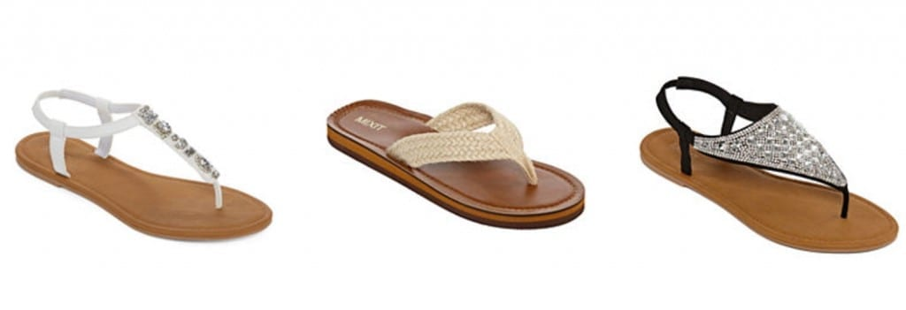 231ef12e41b9 JCPenney has an amazing sale on sandals happening for the Memorial Day  holiday