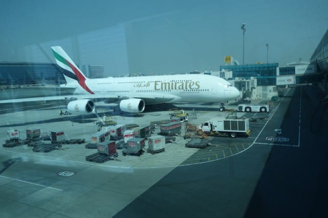 The two-deck A380. The entire top floor is reserved for first and business class.
