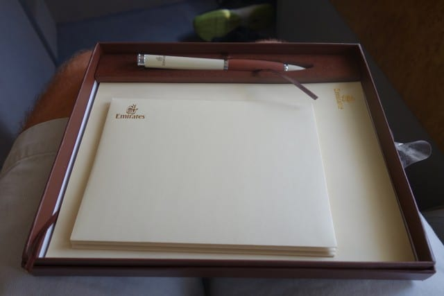 Writing kit, with pen, paper, and envelopes