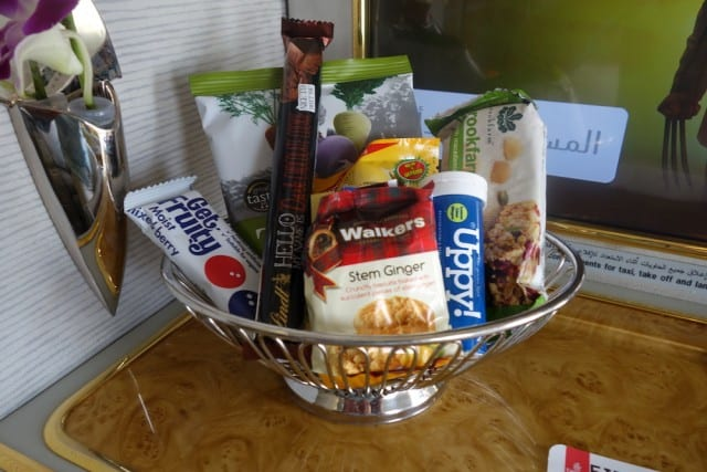 Complimentary snack basket