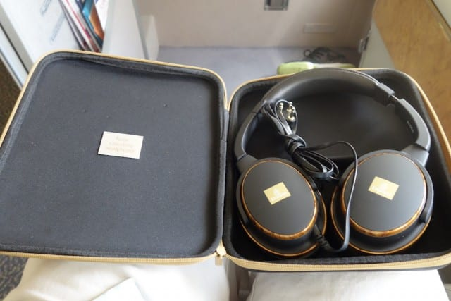 Complimentary noise canceling headphones